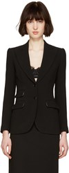 Dolce And Gabbana Black Wool Tailored Blazer