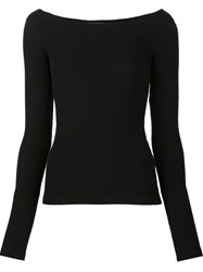 Getting Back To Square One Boat Neck Top Black