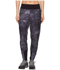 The North Face Beyond Wall Mid Rise Pants Tnf Black Chalk Print Casual Pants