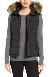 Michael Michael Kors Women's Hooded Puffer Vest With Faux Fur Trim