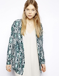 American Vintage Zachary Blazer In Pyschedelic Print Psychedelicjade