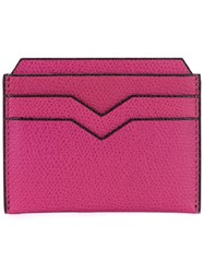Valextra Flat Cardholder Pink And Purple