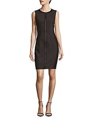 T Tahari Sleeveless Front Zip Dress