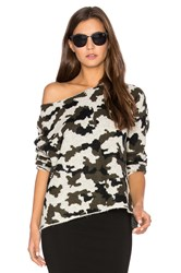 Central Park West Camo Sweater Beige