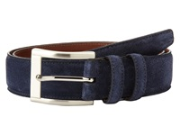 Torino Leather Co. 35Mm Italian Calf Suede Navy Men's Belts