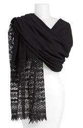 La Fiorentina Women's Crochet Sequin Border Scarf
