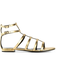 Saint Laurent Gladiator Sandals Metallic