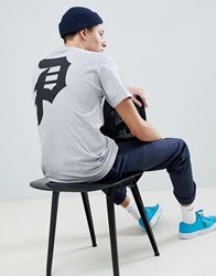 Primitive T Shirt With Classic Logo Back Print In Grey