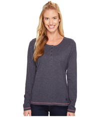 Jack Wolfskin Essential Long Sleeve Midnight Blue Women's Clothing