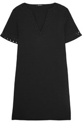 Madewell Gabby Cutout Crepe Mini Dress Black