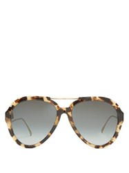 Fendi Oversized Aviator Sunglasses Tortoiseshell