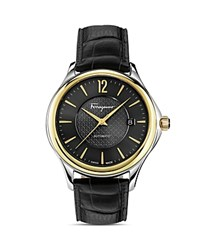 Salvatore Ferragamo Time Two Tone Automatic Watch 33Mm Black Gold