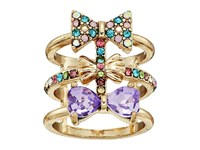 Betsey Johnson Triple Bow Multi Row Ring Multi Ring