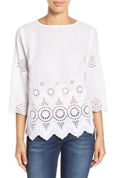Women's Tommy Bahama Cotton Eyelet Top
