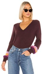 Velvet By Graham And Spencer Caren Cashmere Sweater In Purple. Eggplant