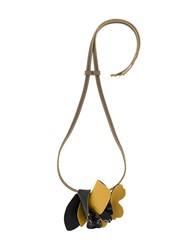 Marni Leather Necklace Brown