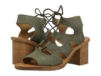 Bella Vita Bre Italy Olive Suede Leather High Heels Green