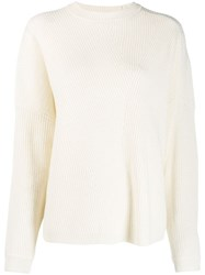 Lala Berlin Ribbed Knit Sweater White