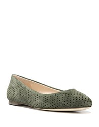 Dr. Scholl's Original Perforated Suede Vixen Flats Olive Green