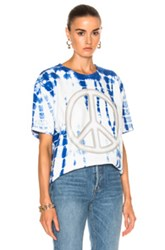 Acne Studios Niagara Peace Tee In Blue Ombre And Tie Dye White Blue Ombre And Tie Dye White