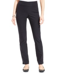 Charter Club Cambridge Tummy Control Slim Leg Pants Only At Macy's Deep Black