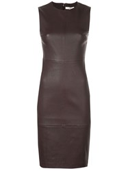Vince Sleeveless Midi Dress Brown