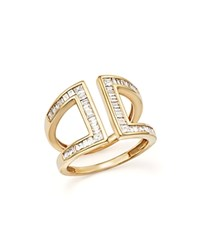 Bloomingdale's Diamond Baguette And Princess Cut Open Band In 14K Yellow Gold .80 Ct. T.W. White Gold