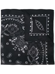 Dsquared2 Paisley Scarf Black