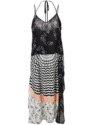 I'm Isola Marras Multi Print Dress Women Polyester Spandex Elastane 40 Black