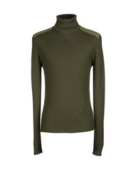 Gran Sasso Knitwear Turtlenecks Men Military Green