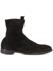 Guidi Front Zip Army Boots Black