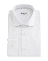 Robert Graham Empire Herringbone Dress Shirt White