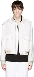 Maison Martin Margiela White Distressed Linen Jacket