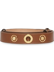 Burberry Triple Stud Leather Belt Brown