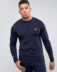 Ellesse Knitted Jumper With Small Logo Navy