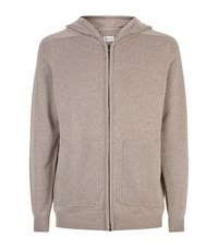 Johnstons Cashmere Zipped Hoodie Nude