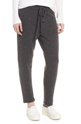 James Perse Women's Brushed Cashmere Sweatpants Charcoal