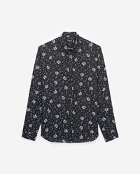The Kooples Black Floral Print Classic Collar Shirt