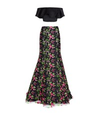 Jovani Floral Embroidered Two Piece Gown Multi