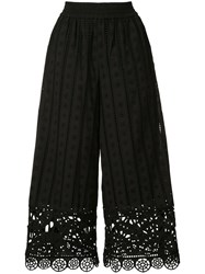 Opening Ceremony Broderie Anglaise Trousers Women Cotton Xs Black