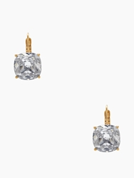 Kate Spade Small Square Leverbacks Clear Gold