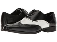 Stacy Adams Stockwell Wingtip Oxford Black White Men's Lace Up Wing Tip Shoes