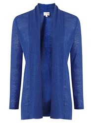 East Edge To Edge Linen Cardigan Blue
