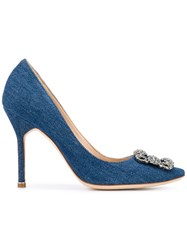 Manolo Blahnik Hangisi Pumps Blue