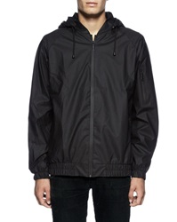 Rains Waterproof Bomber Jacket With Black Hood