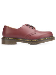 Dr. Martens Stitch Detailing Derbies Red
