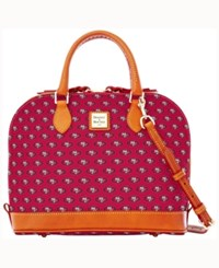 Dooney And Bourke San Francisco 49Ers Zip Zip Satchel Red