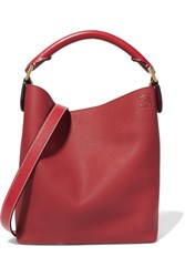 Loewe Hobo Small Textured Leather Shoulder Bag Claret Gbp