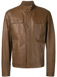Brioni Front Pocket Jacket Brown