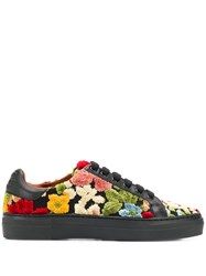 Etro Floral Lace Up Sneakers Black